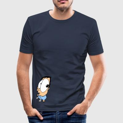 A little guy with big eyes - Men's Slim Fit T-Shirt