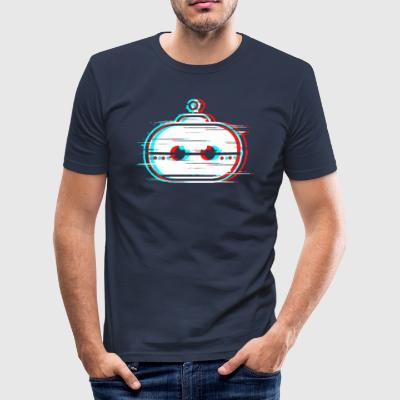 KaiserBot Glitch White - slim fit T-shirt