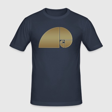 Fibonacci, Golden Spiral, Proportion, Phi, middle - Men's Slim Fit T-Shirt