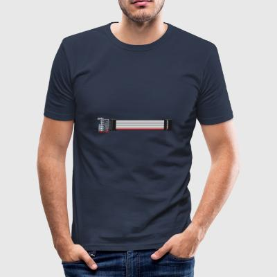 Red stripe down! - Men's Slim Fit T-Shirt
