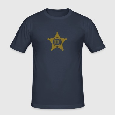 Sheriff Star, your text, Old West, Wild, America, - Men's Slim Fit T-Shirt