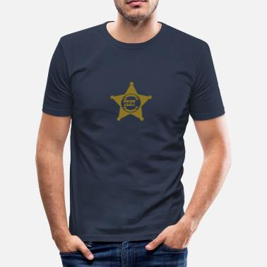 Wild America Office Sheriff Star, your text, Old West, Wild, America, - Men's Slim Fit T-Shirt