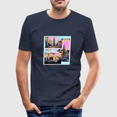 New York 2 - Slim Fit T-skjorte for menn
