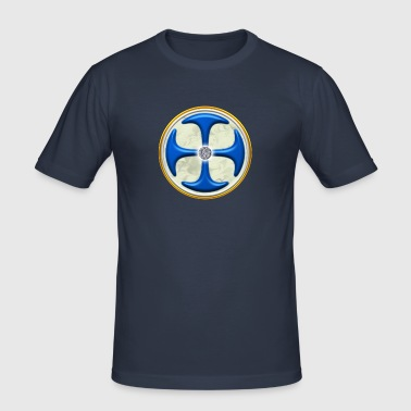 The golden key, power symbol for the ascent, DD, with background, energy icon, protection, healing - Camiseta ajustada hombre