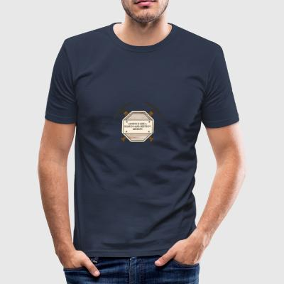 Mining: Mining is like a search-and-destroy - Men's Slim Fit T-Shirt