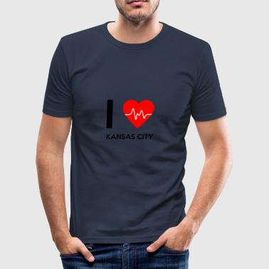 J'aime Kansas City - I love Kansas City - Tee shirt près du corps Homme