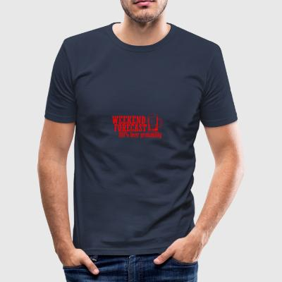 WEEKEND PROGNOS 100 BEER röd - Slim Fit T-shirt herr