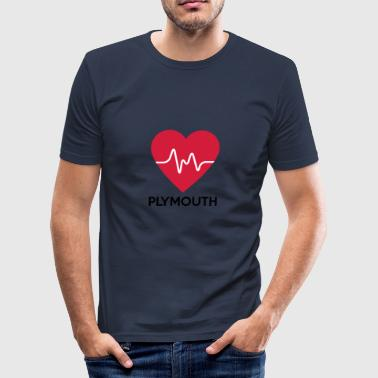 coeur Plymouth - Tee shirt près du corps Homme