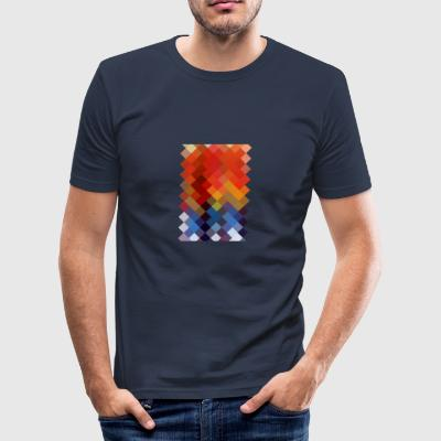 Colourful Pattern - Slim Fit T-shirt herr