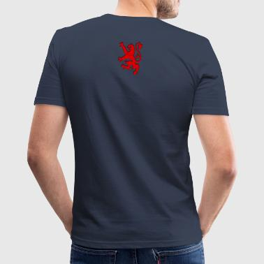 Red Lion Rampant large design graphic - Men's Slim Fit T-Shirt