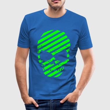 skull_stripes - Männer Slim Fit T-Shirt