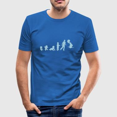 evolution waterpolo2 foetus human humain - Tee shirt près du corps Homme