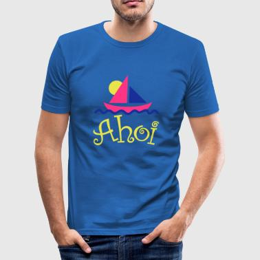 Segelboot Ahoi - Männer Slim Fit T-Shirt