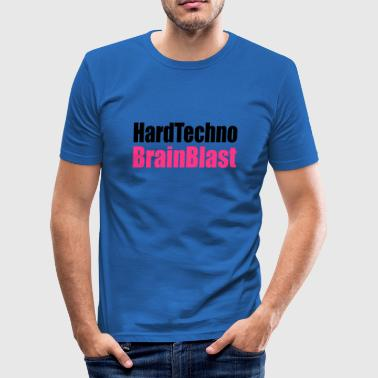 hardtechno brainblast  - Männer Slim Fit T-Shirt
