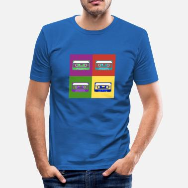 Culture Cassettes Pop Art - Men's Slim Fit T-Shirt