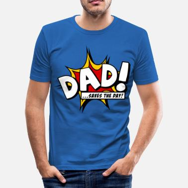 World Book Day Dad saves the day - Men's Slim Fit T-Shirt