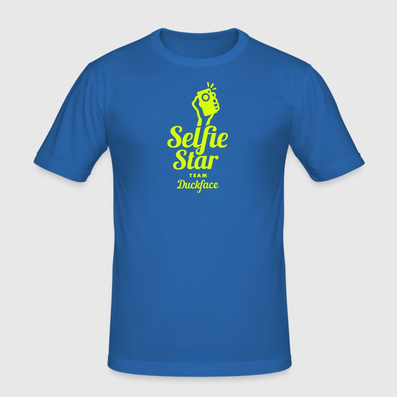 selfi star | duckface  social net - Männer Slim Fit T-Shirt