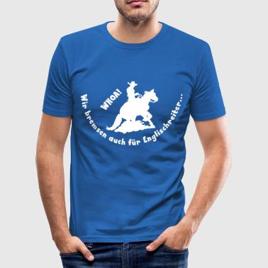 Whoa Sliding Stop - Männer Slim Fit T-Shirt