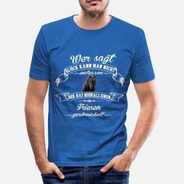 Friese Tekst Friesen geluk - slim fit T-shirt