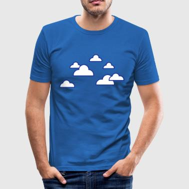 Wolken - Männer Slim Fit T-Shirt