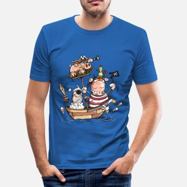 Bateau Funny farm pirates - pirate - boucaniers - T-shirt moulant Homme