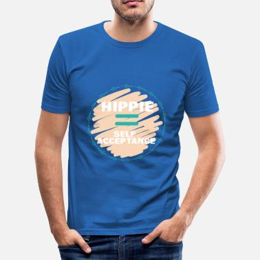 Hippie Hippie / Hippies: Hippie = acceptation de soi - T-shirt moulant Homme