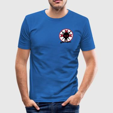 kitelegion_cross_swoard_vec_3de - Männer Slim Fit T-Shirt