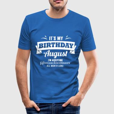 August Birthday Gift Lion - Men's Slim Fit T-Shirt