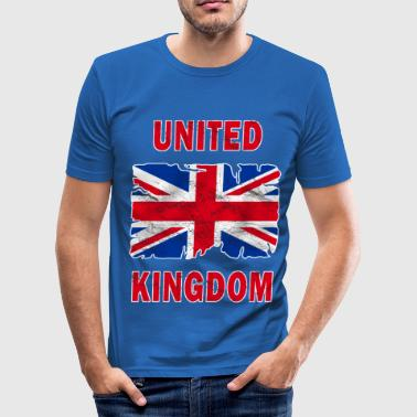United Kingdom united kingdom grunge flag - Men's Slim Fit T-Shirt