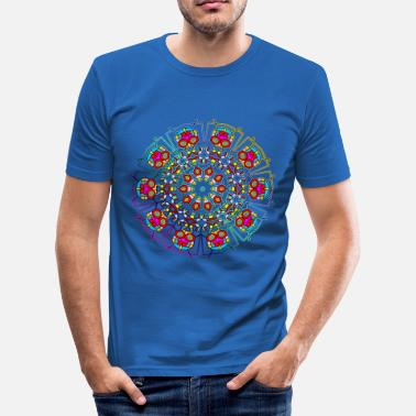 Ritual HAPPY MANDALA - Männer Slim Fit T-Shirt