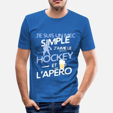 Hockey Hockey sur glace - un mec simple - T-shirt moulant Homme