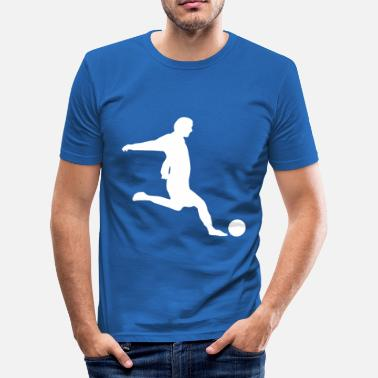 Kule Fotball fotboll - Slim Fit T-skjorte for menn