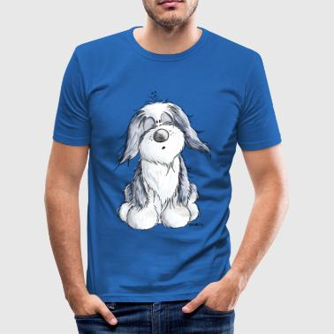 Collie Comic Kleiner Bearded Collie - Hund - Geschenk - Comic - Männer Slim Fit T-Shirt