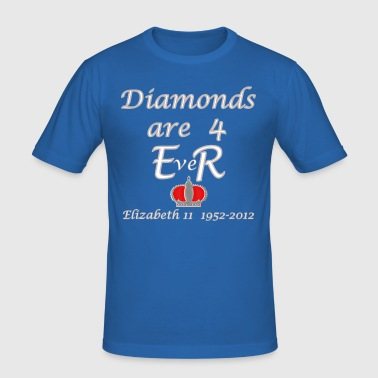 diamonds are for ER jubilee year 2012 - Men's Slim Fit T-Shirt