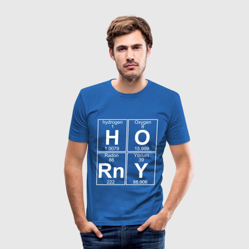 H-O-Rn-Y (horny) - Full - Männer Slim Fit T-Shirt