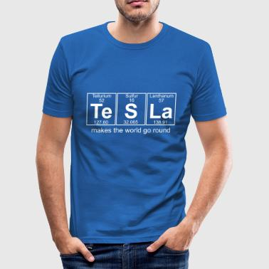 Te-S-La (tesla) - Full - Männer Slim Fit T-Shirt