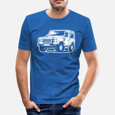 Land Rover Defender (Differenzbild) - Männer Slim Fit T-Shirt