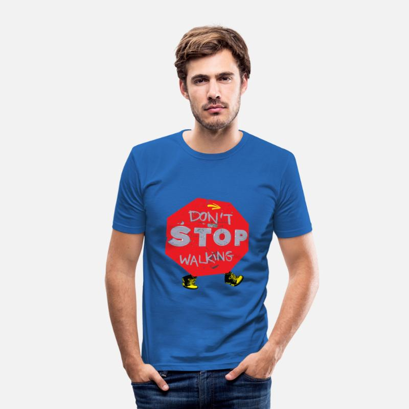 Funny T-Shirts - Funny camino quotes - Men's Slim Fit T-Shirt royal blue