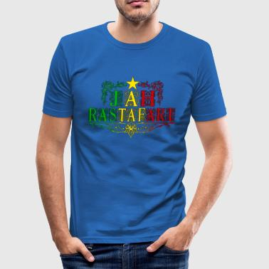 Roots Ragga Dance Hall Rasta jah rastafari - Men's Slim Fit T-Shirt