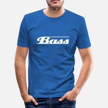 Basslinje bass hvit - Slim Fit T-skjorte for menn