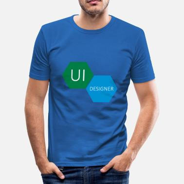 User UI User Interface Designer - Slim Fit T-shirt herr