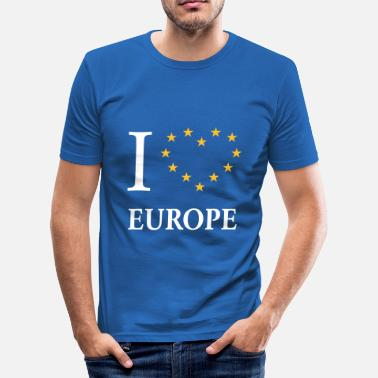 Pro Europe I Love Europe / I Heart Europe - Men's Slim Fit T-Shirt