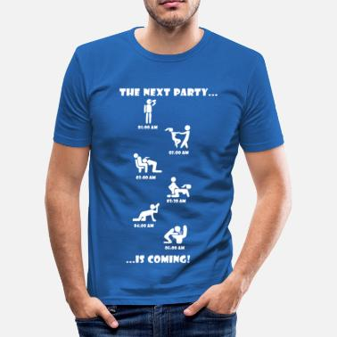 I Love The Next Party is coming. - Männer Slim Fit T-Shirt