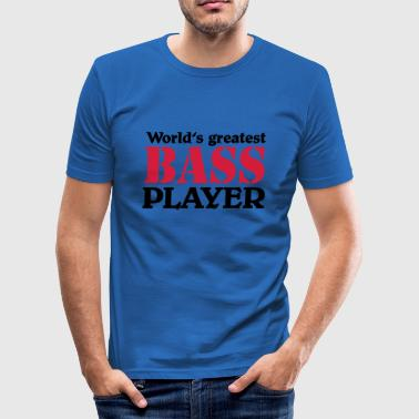 World's greatest Bass Player - T-shirt près du corps Homme