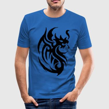 Tribal tribal tattoo dragon - Men's Slim Fit T-Shirt