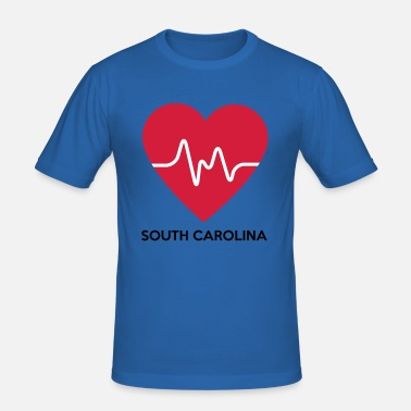 South Carolina Heart South Carolina - Men's Slim Fit T-Shirt
