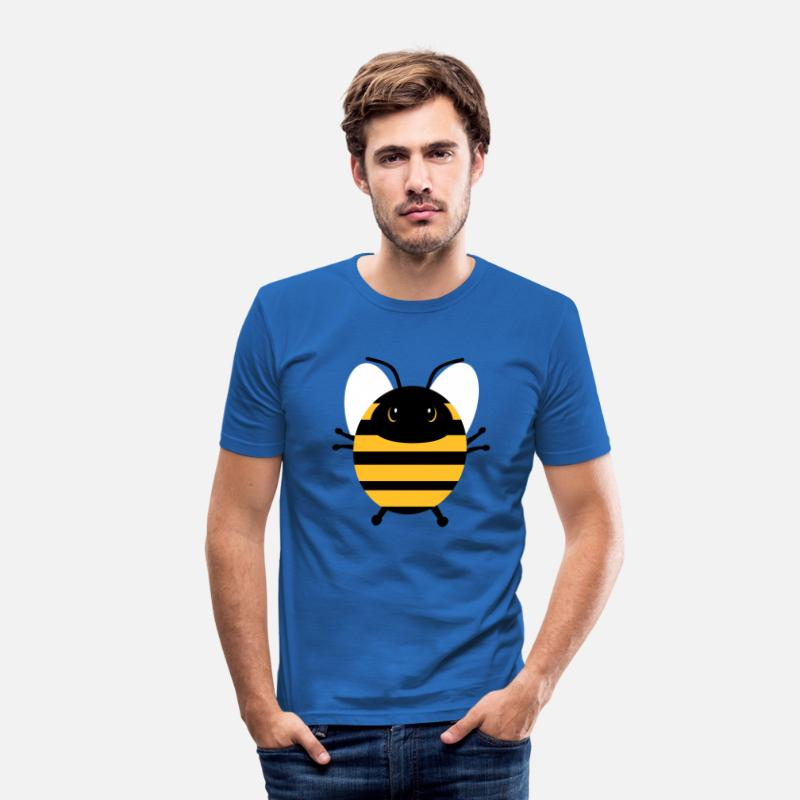 Bumble Bee T-Shirts - Sweet bee - Men's Slim Fit T-Shirt royal blue