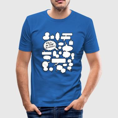 Fill in the blanks | Cartoon balloons - slim fit T-shirt