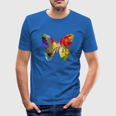 Bunter Schmetterling - Männer Slim Fit T-Shirt