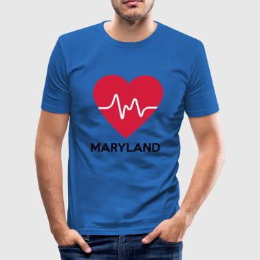 Heart Maryland - Men's Slim Fit T-Shirt